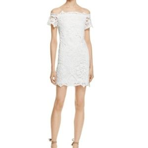 🆕 Lush Off the Shoulder Lace Dress- BLUSH